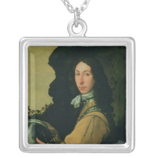 Portrait of John Evelyn Silver Plated Necklace