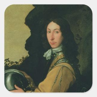 Portrait of John Evelyn Square Sticker