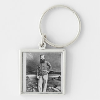 Portrait of John Hanning Speke Silver-Colored Square Key Ring