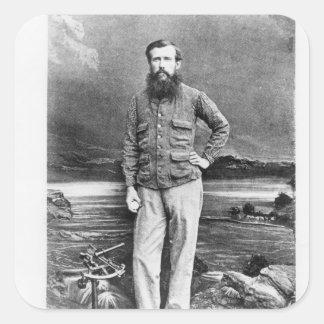 Portrait of John Hanning Speke Square Sticker