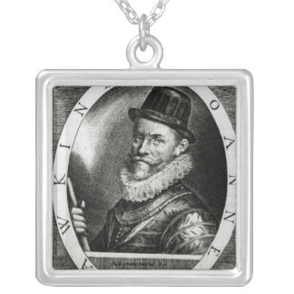 Portrait of John Hawkins Silver Plated Necklace