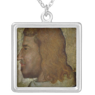 Portrait of John II,'the Good'  King of France Silver Plated Necklace