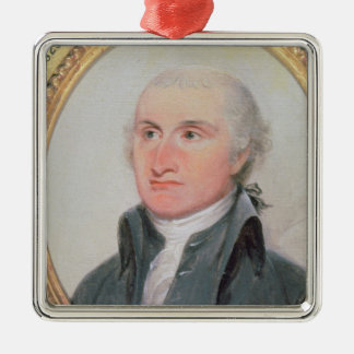Portrait of John Jay Silver-Colored Square Decoration