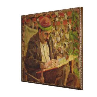 Portrait of John Maynard Keynes (1883-1946) (oil o Canvas Print
