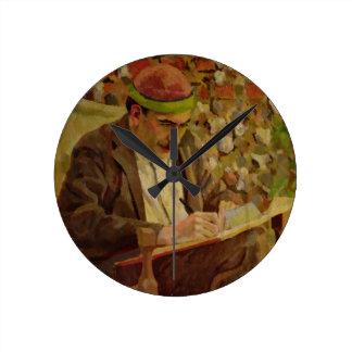 Portrait of John Maynard Keynes (1883-1946) (oil o Clock