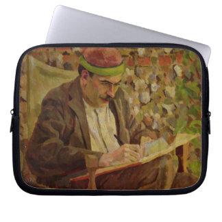 Portrait of John Maynard Keynes (1883-1946) (oil o Laptop Computer Sleeves