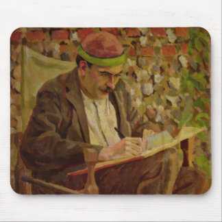 Portrait of John Maynard Keynes (1883-1946) (oil o Mouse Pad