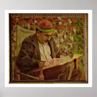 Portrait of John Maynard Keynes (1883-1946) (oil o Poster