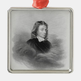 Portrait of John Milton (1608-74) engraved by the Christmas Ornament