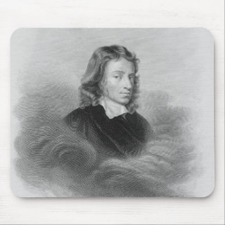 Portrait of John Milton (1608-74) engraved by the Mouse Mat