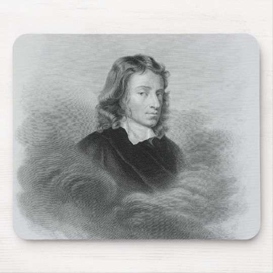 Portrait of John Milton (1608-74) engraved by the