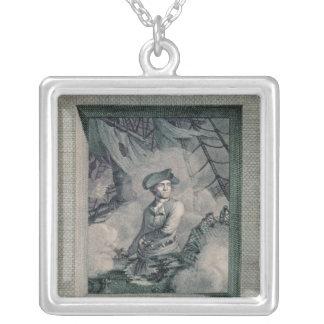 Portrait of John Paul Jones Silver Plated Necklace