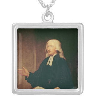 Portrait of John Wesley  1788 Silver Plated Necklace