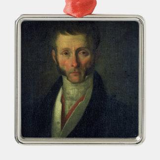 Portrait of Joseph Fouche  Duke of Otranto, 1813 Silver-Colored Square Decoration