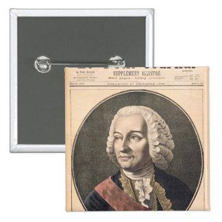 Portrait of Joseph Francis Dupleix 15 Cm Square Badge