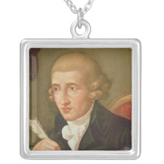 Portrait of Joseph Haydn Silver Plated Necklace