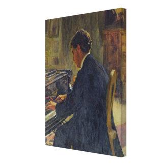 Portrait of Joseph Hofman, 1912 Canvas Print