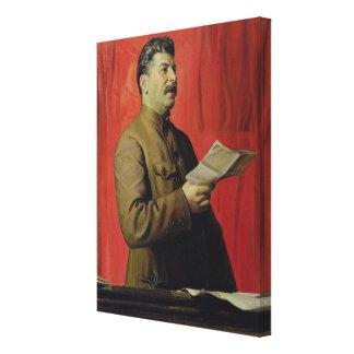 Portrait of Josif Stalin, 1933 Canvas Print