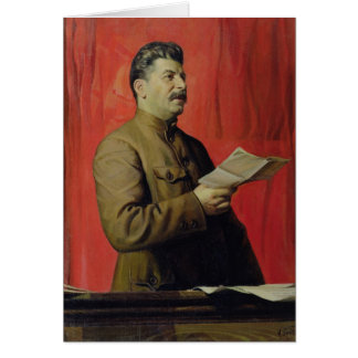 Portrait of Josif Stalin, 1933 Greeting Card