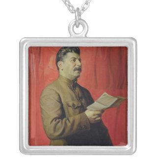 Portrait of Josif Stalin, 1933 Custom Necklace