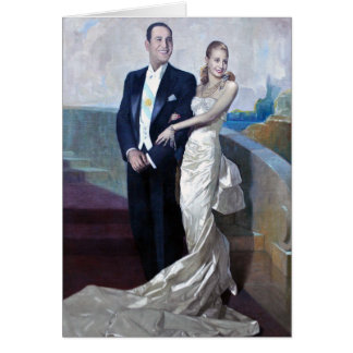 Portrait of Juan Domingo Perón and Eva Duarte Card
