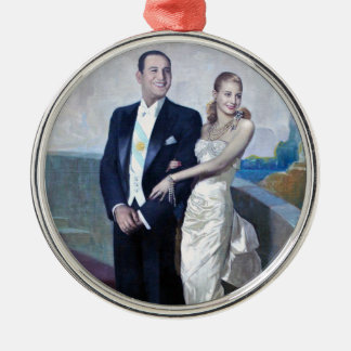 Portrait of Juan Domingo Perón and Eva Duarte Christmas Ornament