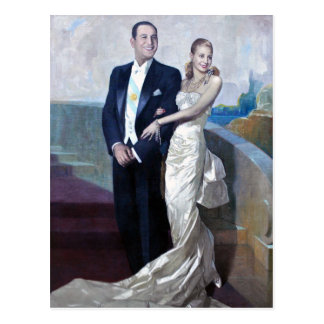 Portrait of Juan Domingo Perón and Eva Duarte Postcard
