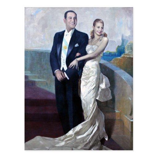 Portrait of Juan Domingo Perón and Eva Duarte Post Card