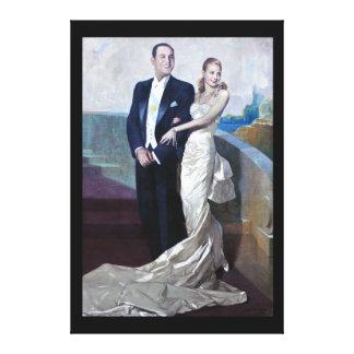 Portrait of Juan Domingo Perón and Eva Duarte Stretched Canvas Prints