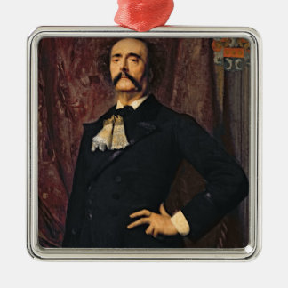 Portrait of Jules Barbey d'Aurevilly  1881 Christmas Ornament