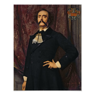Portrait of Jules Barbey d'Aurevilly  1881 Poster