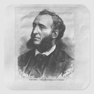 Portrait of Jules Ferry Square Stickers