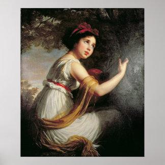 Portrait of Julie Le Brun, c.1797 Poster