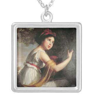 Portrait of Julie Le Brun, c.1797 Silver Plated Necklace