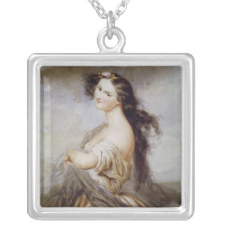Portrait of Juliette Drouet Silver Plated Necklace
