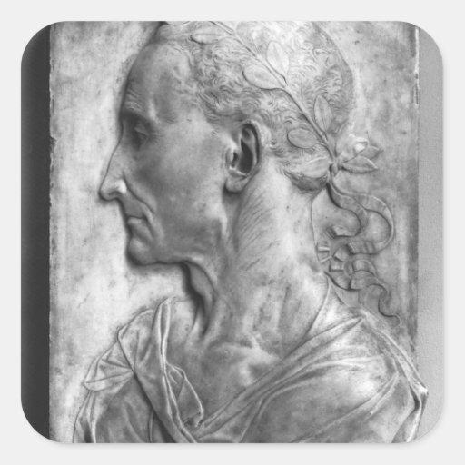 Portrait of Julius Caesar Square Sticker