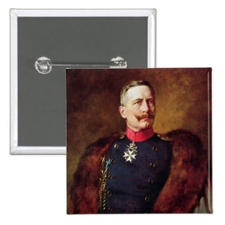 Portrait of Kaiser Wilhelm II 15 Cm Square Badge