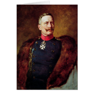 Portrait of Kaiser Wilhelm II Card