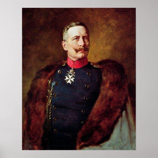 Portrait of Kaiser Wilhelm II Poster