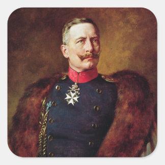 Portrait of Kaiser Wilhelm II Square Sticker