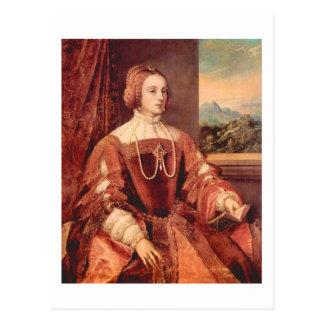 Portrait of Kaiserin Isabella, Titian Fine Art Postcard