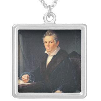 Portrait of Karl Friedrich Schinkel, c.1880 Silver Plated Necklace