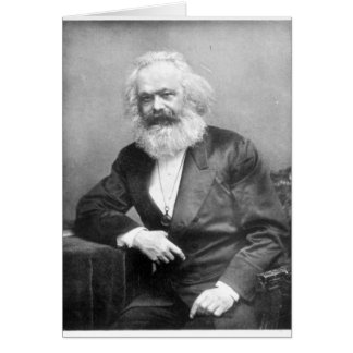 Portrait of Karl Marx Card