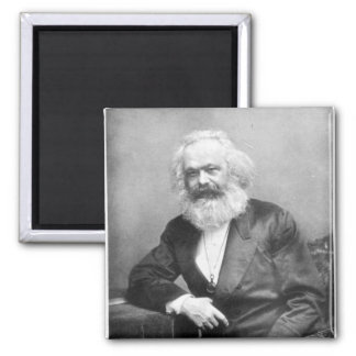 Portrait of Karl Marx Square Magnet