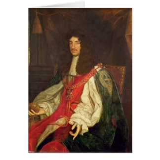 Portrait of King Charles II, c.1660-65 Card