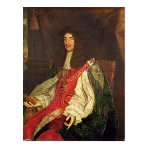 Portrait of King Charles II, c.1660-65 Post Card
