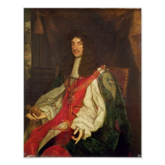 Portrait of King Charles II, c.1660-65 Poster
