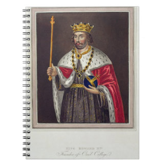 Portrait of King Edward II (1284-1327) Founder of Spiral Notebook