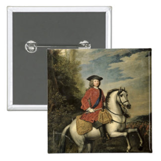 Portrait of King George I, 1717 15 Cm Square Badge
