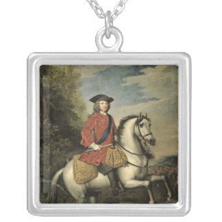 Portrait of King George I, 1717 Square Pendant Necklace
